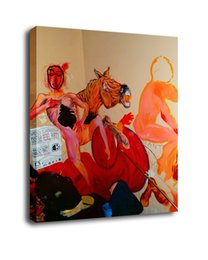 China Cartoon Art The Woman And The Horse,Oil Painting Reproduction High Quality Giclee Print on Canvas Modern Home Art Decor suppliers