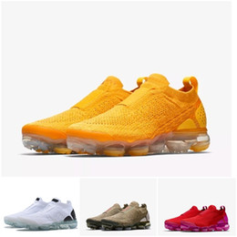 Air sport hiking shoes online shopping - New designer Moc Laceless running Shoes Triple Sneakers Fly knit Sports Air cushion Trainers Zapatos size