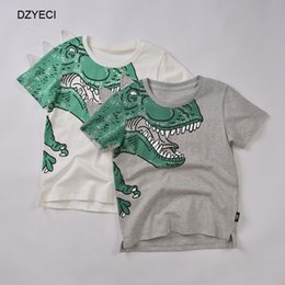 baby boys tees Australia - Summer Baby Boy Dinosaur Print T Shirt Clothes Fashion Children Cotton Casual Boutique Tee Kid Sport Casual Top Clothing