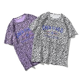 women s leopard print UK - 2019 Fashion Women T-shirt Leopard-print Round Neck Short-sleeved T-shirt Loose Clothing with S-XL Availiable