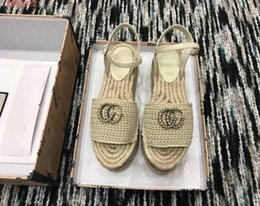 Wholesale 2019 New style on the market women fashion shoes colorful woven sandals Fisherman style sandals size
