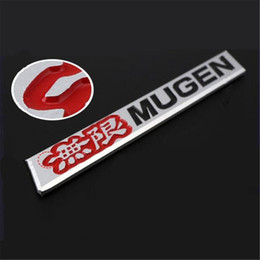 mugen stickers Australia - 1pcs 3D Car Badge Sticker Aluminum Emblem Decal Mugen Red For ACURA HONDA CIVIC DIY