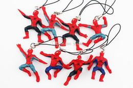 $enCountryForm.capitalKeyWord Australia - The Avengers Spider Man Keychain Pendant Cellphone Strap Super Man Movie Plush Figures Hulk 40pcs lot Free Shipping