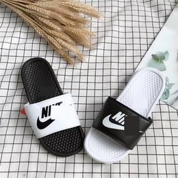 Designer water shoes online shopping - Men Women Designer Slippers Luxury NK Sandals Femmes Ladies Platform Sandal Brand Flip Flops Beach Bath Slipper Water Shoes C61801