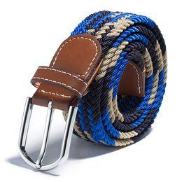 Band Belts Australia - B 2018 Women Men Elastic Woven Leather Pin Buckle Waist Belt Canvas Band Corset