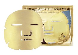 $enCountryForm.capitalKeyWord Australia - 2019 New Gold Bio Collagen Facial Mask Face Mask Crystal Gold Powder Collagen Facial Mask Sheets Moisturizing Beauty Skin Care Products
