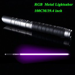 LGTOY Lightsaber RGB Jedi Sith Light Saber Force FX Lighting Heavy Dueling Color Changing Sound FOC Lock up Metal Handle T200103 on Sale