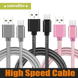 Iphone androId mobIle online shopping - 3m m m Fabric Braided Nylon Data Sync USB Cable ft ft ft Cord Charger Charging For Android Mobile Phone without Package
