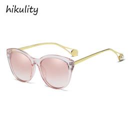 purple cats eye beads 2019 - 90117c New 2019 Cat Eye Sunglasses Women Brand Designer Pink Ladies Shades with Pearl Beads Gradient Sun Glasses Female
