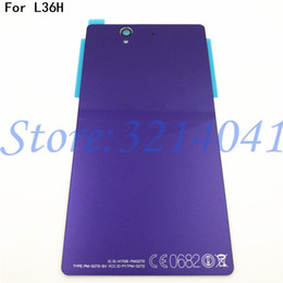 """L36h Housing Australia - 5.0"""" For Sony xperia Z L36H L36 C6603 C6602 Case Glass Battery Housing Cover L36I Replacement Back Cover Cases+With"""