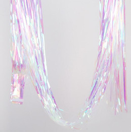 $enCountryForm.capitalKeyWord NZ - Wholesale party backdrop Wedding room decoration Foil Curtains Colorful transparent rain-silk curtain tassels 1M wide and 2M long WQ63