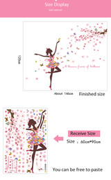 Wall art 3d floWers online shopping - Flower Fairy Wall Stickers Butterflies bedroom Girls Rooms home decoration Art Decals D Wallpaper sticker adesivo de parede