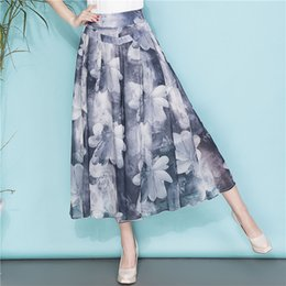 Wholesale female skirt trousers resale online – XXXXL Women Wide Leg Pants Loose Skirt Pants Female High Waist Summer for women Thin Section Trousers Ladies Clothing