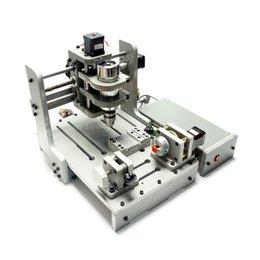 Venta al por mayor de Mini bricolaje cnc fresadora bricolaje Mini cnc máquina de grabado 200 * 300 mm área de trabajo con 300 W DC husillo libre de impuestos a RU