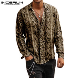 $enCountryForm.capitalKeyWord Australia - INCERUN Fashion Printed Shirt Men Long Sleeve Turn-down Collar Cool Streetwear Basic Casual Mens Shirts camisa masculina 2019