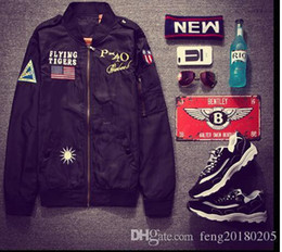 Army combAt coAt online shopping - New Spring best Jacket Classic Men s Clothing Collar Jacket Embroidered Baseball Mens Jacket Men s Army Combat Uniform Coat