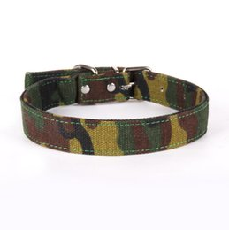 $enCountryForm.capitalKeyWord UK - 2019 Camouflage canvas Pet Dog Collar For Puppy Cat Chihuahua Small PET Neck Strap Adjustable Size