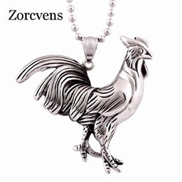 cock necklace Canada - Modyle Drop Shipping Unisex Fashion Antique Silver Color Stainless Steel Pride Cock Shape Pendant Necklace For Birthday Gift