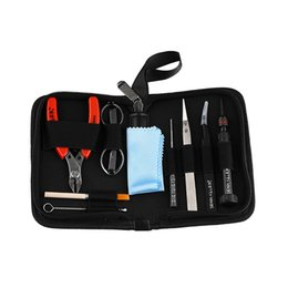 $enCountryForm.capitalKeyWord UK - Original Demon Killer Tool Kit E Cig Vape Bag With Ceramic Tweezer Cutter Pliers Cleaning Brush Coil For DIY Atomizers Free Shipping