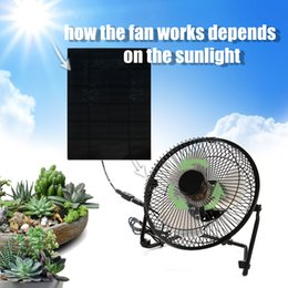 Solar panel cooling online shopping - Solar Panel Powered USB Iron Fan Outdoor Traveling Fishing Hiking Barbecue Cooling Ventilation Car Cooling Fan Inch W W