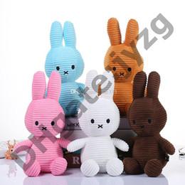 09de54ac Rabbit Stuffed Animals Dolls Toys Rabbit Plush toys 5 Colors Stripe Bunny  Doll Best Gifts For Kids Toys