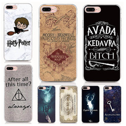 Wholesalers For Iphone Cases Australia - For iPhone XS XR XS Max X 8 7 6 Plus 5S case Hard PC and soft TPU High quality print pictures Harry potter quotes Phone cases 10pcs lot