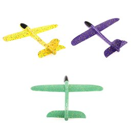 Discount outdoor toys for kids - 48cm EPP Foam Plane Glider Model Flying Lightweight Hand Throwing Airplane Toy children Outdoor Fun Gift Toys For boy gi