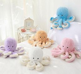 deer white pendant NZ - 15.7inch   40cm Lovely Simulation octopus Pendant Plush Stuffed Toy Soft Deer Animal Home Accessories Cute Animal Doll Children Gifts