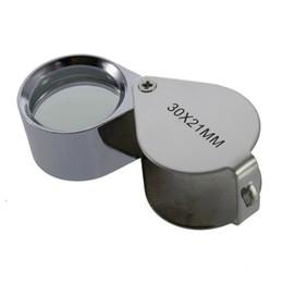 $enCountryForm.capitalKeyWord NZ - Mini 30X Glass Magnifying Magnifier Jeweler Eye Jewelry Loupe Loop 30*21mm Triplet Jewelers Eye Glass 2pcs set