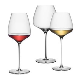 Chinese  High capacity Crystal glass cup Burgundy red wine goblet Champagne Goblet Bubble Wine Tulip Cocktail Wedding Party drinkware manufacturers