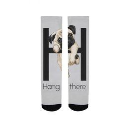 $enCountryForm.capitalKeyWord UK - French Bulldog Combed Cotton Men's Socks Harajuku Happy Funny hanged dog Long Warm Dress Socks for Male Wedding Christmas Gift