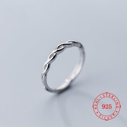 Hollow Fingers Australia - S925 silver ring Japanese plait style fashion hollow cross ring temperament personality open index finger ring weave female jewelry