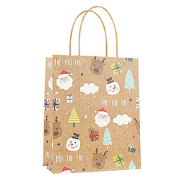 $enCountryForm.capitalKeyWord Australia - 12pcs pack Christmas Kraft Paper Gift Bags Cute Candy New Year Packing Bag Christmas Decoration Festival Jewelry Bags Wedding