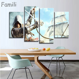 $enCountryForm.capitalKeyWord NZ - 4 Panel HD Prints Movie Assassins Creed Role Poster Wall Modular Picture Canvas Paintings For Living Room Kids Room Painting