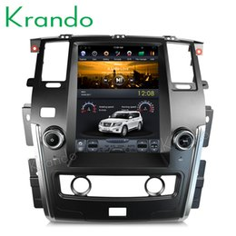 "Car Multimedia Player System Australia - Krando Android 6.0 12.1"" Vertical screen car dvd GPS for Nissan Patrol low version 2010-2018 navigation multimedia system"
