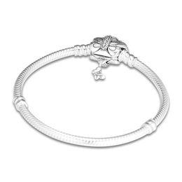 $enCountryForm.capitalKeyWord UK - 925 Sterling Silver Moments Pandora Bracelet Decorative Butterfly Clasp Snake Chain Bangle Fit Bead Charm Diy Europe Jewelry 14cm
