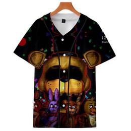 Nights Freddy S Clothes Australia - Five Nights at Freddy 3D printing Kawaii Casual Baseball T-shirts Men Women 2018 Fashion Harajuku Short Sleeve Baseball T-Shirt Clothes