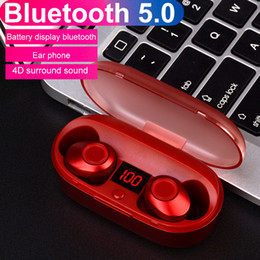 Wholesale J29 LED Display TWS Bluetooth Earphone Sport Portable Earbuds Deep Bass HiFi Wireless Headset with mAh Charger for Phone