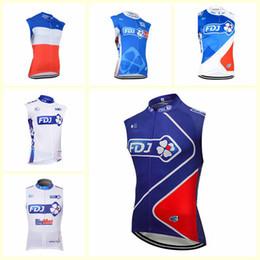 $enCountryForm.capitalKeyWord Australia - FDJ team Cycling Sleeveless jersey Vest New Men Mtb Clothes Ropa Ciclismo racing Bike shirts Riding Wear SportsWear U71722