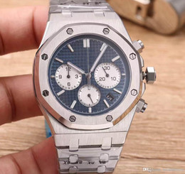 Chronograph 42mm online shopping - 2018 new watch men mm Small dial work pointer Quartz stainless steel watch tick watches