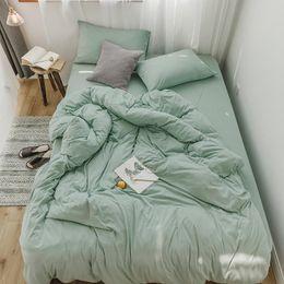 Yellow Blue Bedding Australia - Kids Adults Twin Queen King size Bedding Set Grey Blue Bed set Soft Cotton Bed sheet set Duvet Cover Fitted sheet parure de lit
