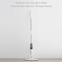 Ingrosso Deerma spruzzo d'acqua Mop TB500 in fibra di carbonio collettore di polveri di 360 gradi di rotazione 120 centimetri Rod da Xiaomi Youpin