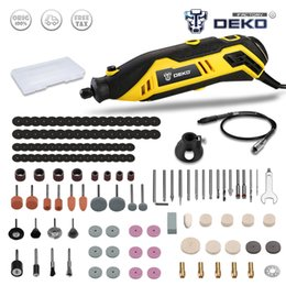 $enCountryForm.capitalKeyWord Australia - Factory Outlet DEKO DKRT01 220V Variable Speed Mini Grinder Electric Cutting Polishing Drilling Rotary Tool with Accessories