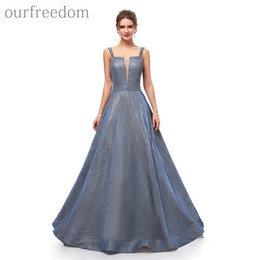 $enCountryForm.capitalKeyWord UK - 2019 Vintage Sparkly Sequins Prom Dresses Spaghetti Strapless A Line Sexy Back Floor Length Designer Occasion Dresses Evening Party Gowns