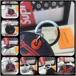 $enCountryForm.capitalKeyWord Australia - 2019 luxury Key Rings desiginer Keychain Badge Printed Handmade Dome Pendant Metal Key Ring Car Key Chain Llaveros Sleutelhanger with box