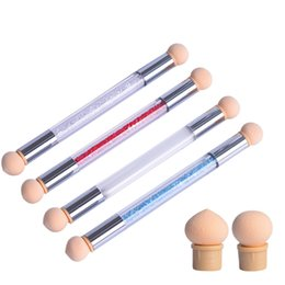 Gradient Tools Australia - Nail Double-head Sponge Painted Acrylic Smudge Pen DIY Manicure Nail Point Printing Gradient Tool