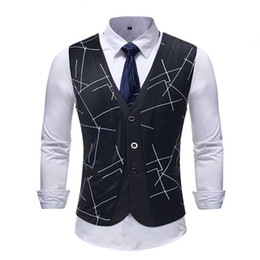 $enCountryForm.capitalKeyWord Australia - 2018 New Arrival Dress Vests For Men Slim Fit Mens Suit Vest Male Waistcoat Gilet Homme Casual Sleeveless Formal Business Jacket