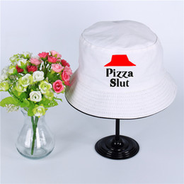 $enCountryForm.capitalKeyWord NZ - Pizza Slut Logo Summer Hat Women Mens Panama Bucket Hat Pizza Slut Design Flat Sun Visor Fishing Fisherman Hat Wide Brim hats sun cap