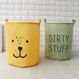 clothes bucket NZ - 35cm*40cm Storage Bags wholesale folding waterproof fashion laundry basket dirty clothes basket storage bucket Green Yellow Black Gray