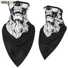 $enCountryForm.capitalKeyWord Australia - Motorcycle Balaclavas Windproof Moto Mask Half Face Printing Mask Ski Neck Scarf Cycling Triangle Scarf Face Shield Bandanas